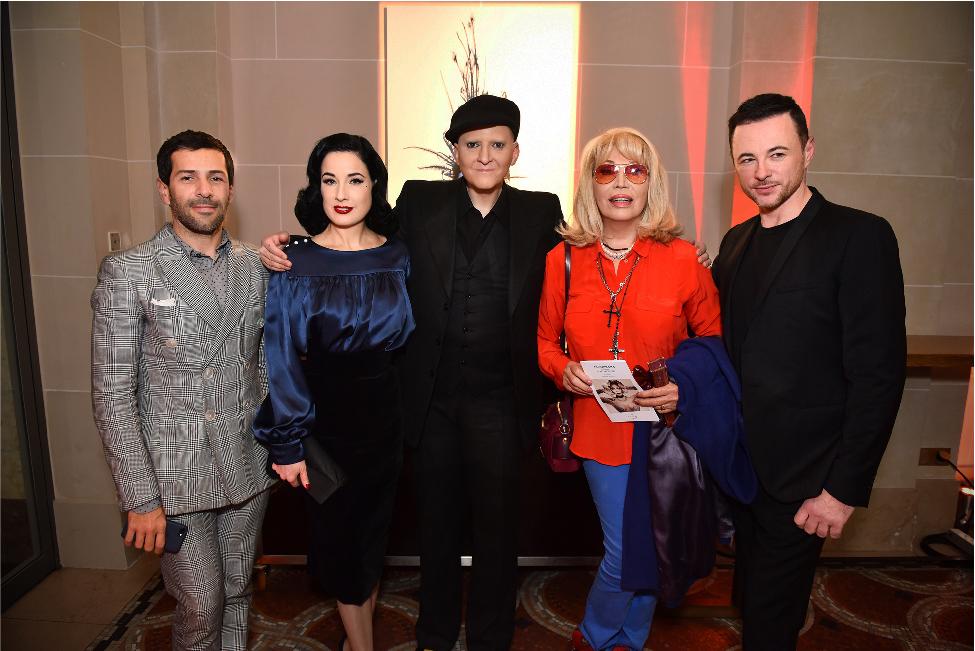 Alexis Mabille, Dita von Teese, Ali Mahdavi, Amanda Lear & Frederic Fontan