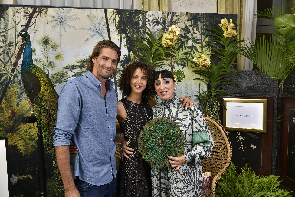 Camille Lacourt, Noemie Lenoir & Rossy de Palma at Ritz Paris